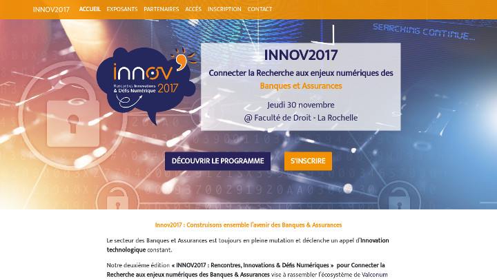 Screenshot du site internet INNOV 2017